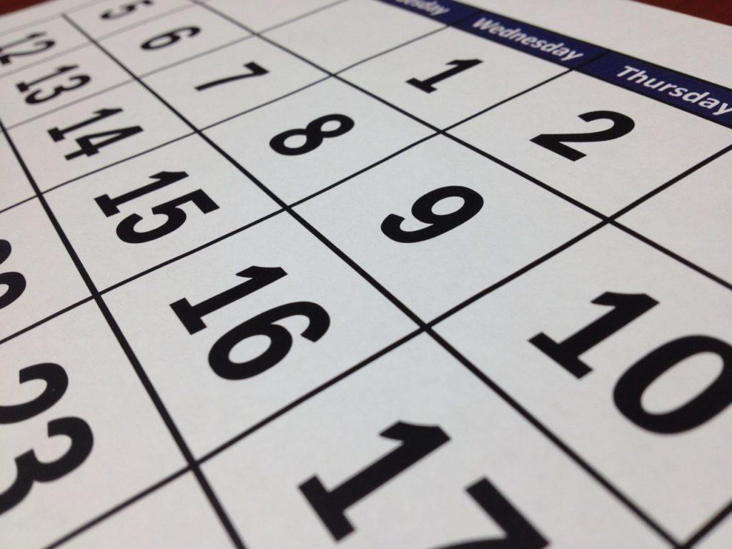 calendario agenda appuntamenti