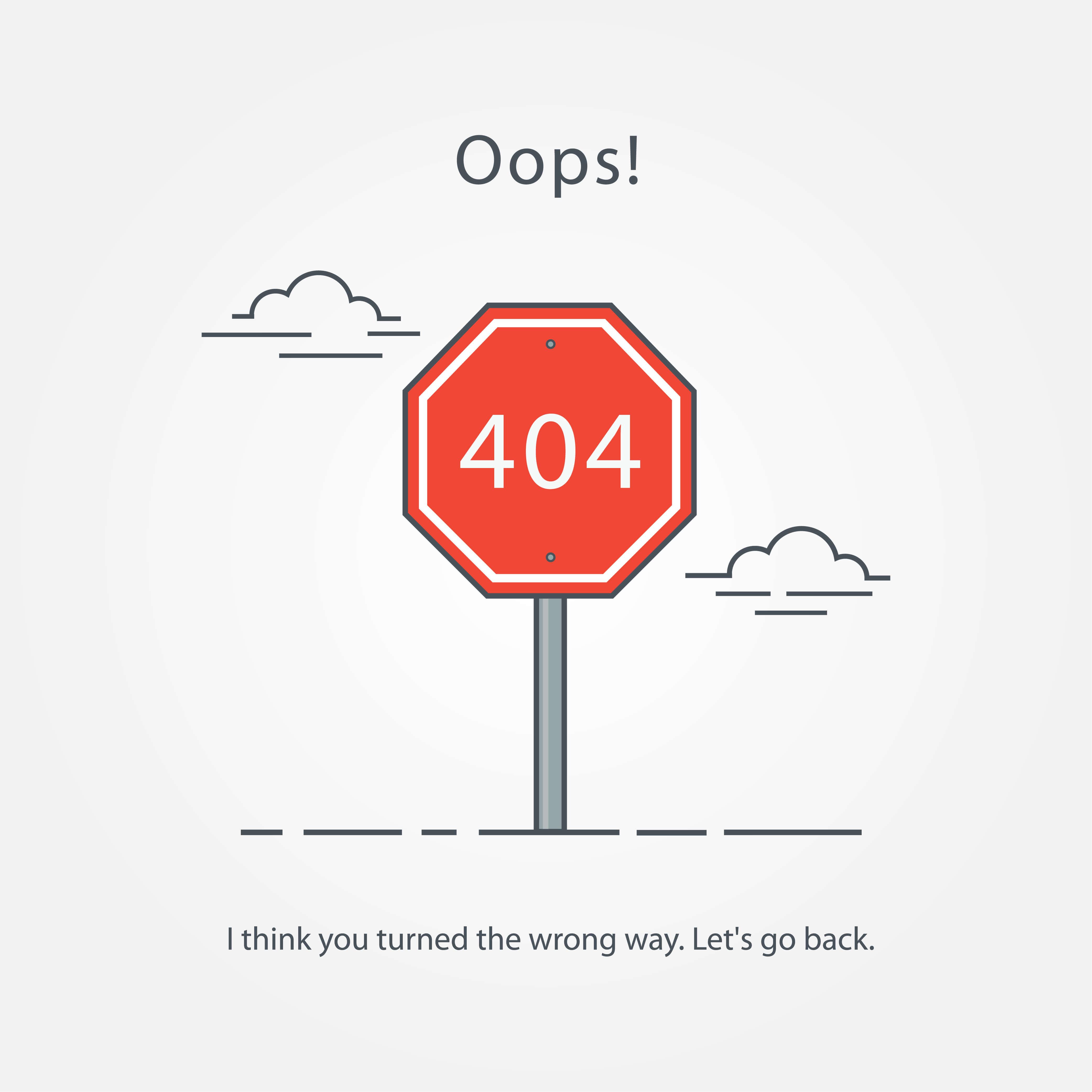 errore 404 sito web internet