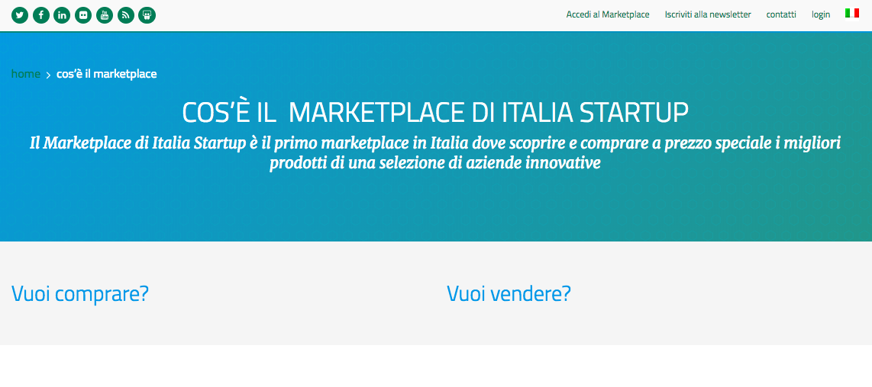 marketplace startup italia