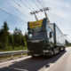 Electric road hybrid truck, Scania G 360 4x2 (Hybrid Truck with Siemens pantograph on the roof) Gävle, Sweden Photo: Tobias Ohls 2016 (CC BY-NC-ND 3.0)