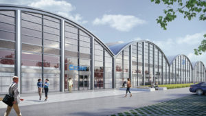 Copyright: gmp von Gerkan, Marg & Partner Artist's impression of the new ECMWF data centre proposed in Bologna, Italy.