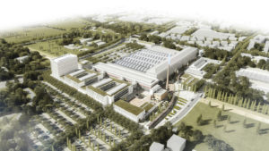 Artist's impression of the site proposed in Bologna, Italy, for ECMWF's new data centre.